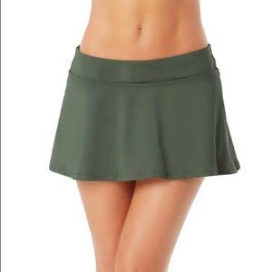 Anne Cole Classic Skirt Swim Bottoms in Island Green